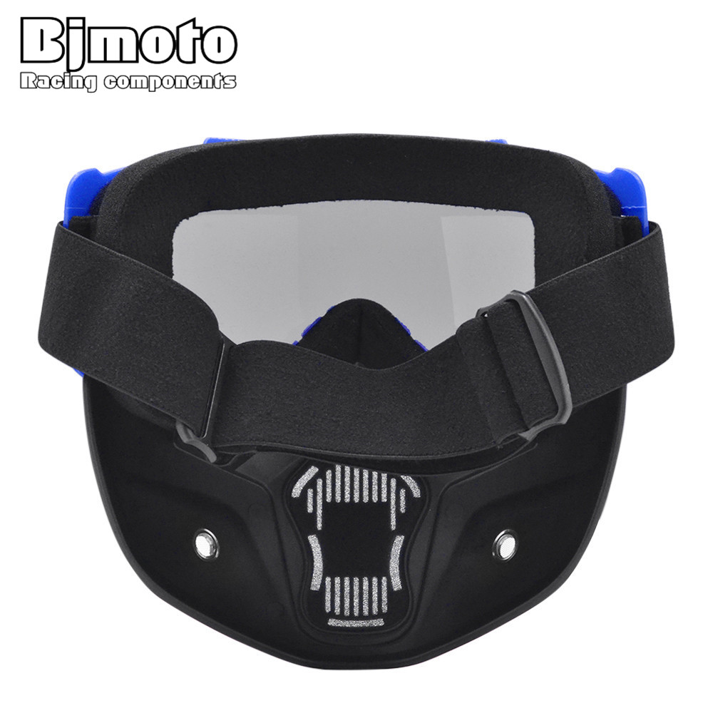 BJMOTO Motorcycle Helmet Goggles Vintage Racing Open Face Fack Mask Dust Ski Snow Googles For Harley Scooter Cafe Racer In Glasses From