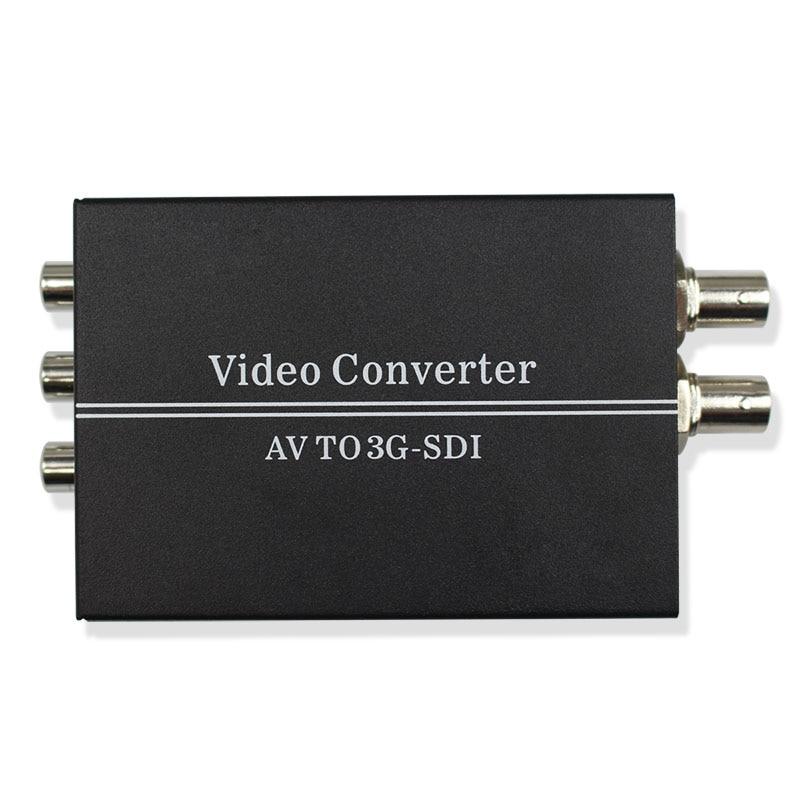 AV CVBS PAL/NTSC para HD 3G SDI BNC Conversor de Vídeo Composto RCA para HD-SDI 3G-SDI L/ R Analógico Audio Converter para HDTV