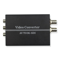 AV CVBS PAL/NTSC to HD 3G SDI BNC Converter Composite RCA to HD SDI 3G SDI Video L/R Analog Audio Converter for HDTV