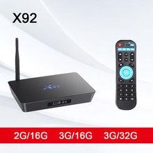 X92 ТВ коробка 3G32G Smart Декодер каналов кабельного телевидения Android 7,1 Amlogic S912 Восьмиядерный WI-FI 4 K hdmi-медиапроигрыватель WI-FI USB 3,0 2,0