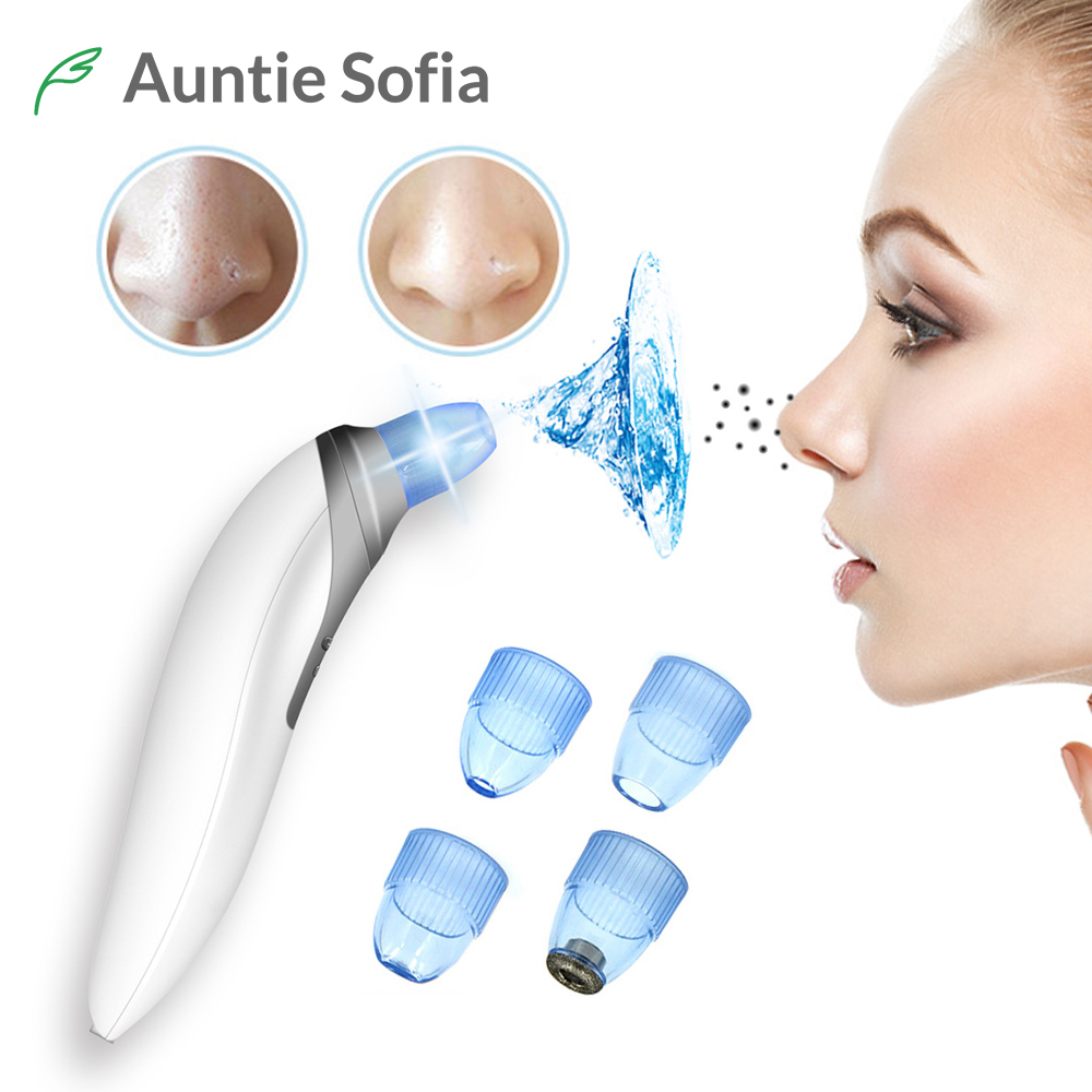 Face Nose Vacuum Blackhead Extractor Pores Cleaning Black Dot Comedo Extractor Point Noir Aspiration Acne Suction Massage Tool