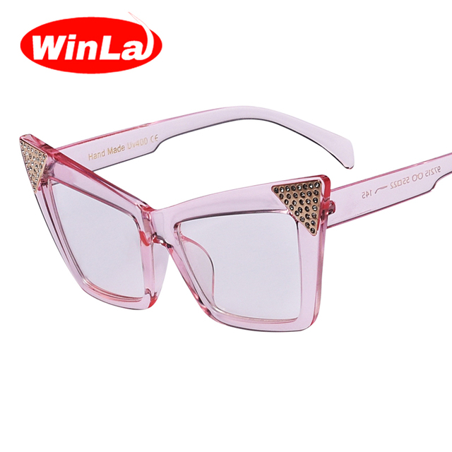 22be3818b6f Winla New Arrival Cat Eye Glasses Frame Clear Lens for Women Elegant  Fashion Style Female Eyeglasses
