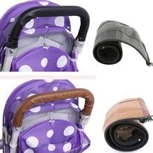 Подлокотник для детской коляски чехол Чехол из искусственной кожи защитный чехол ручка коляски складные и моющиеся аксессуары для коляски