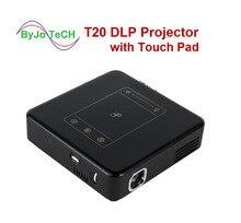 ByJoTeCH T20 DLP العارض مع لوحة اللمس بيكو الروبوت 7.1 Proyector واي فاي البسيطة متعاطي المخدرات 8000 مللي أمبير بطارية جهاز عرض مسرحي منزلي D13