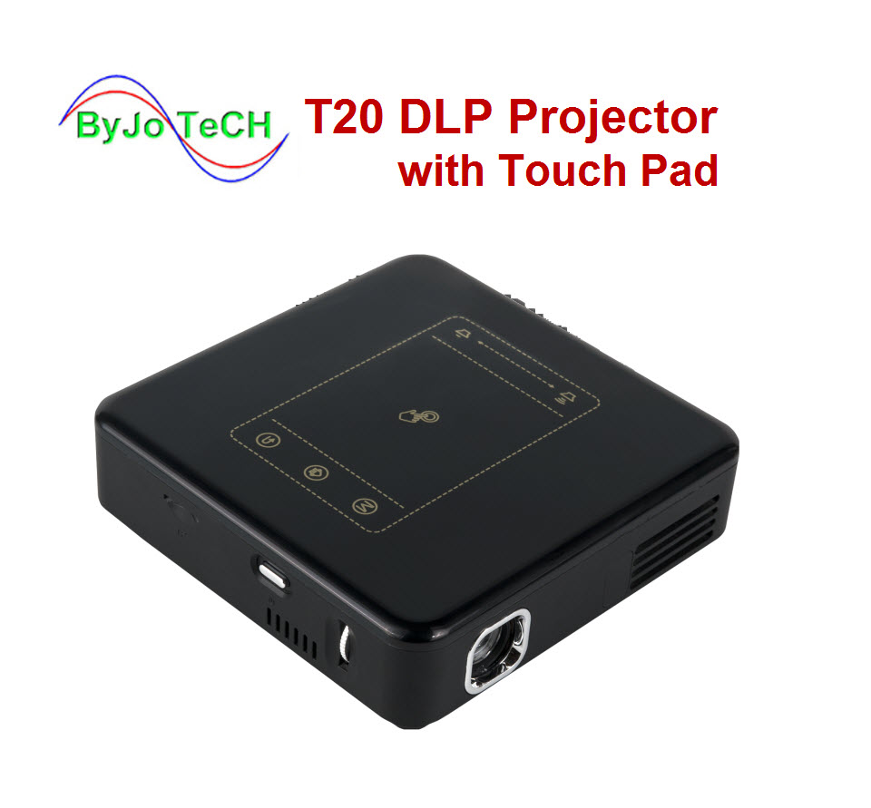 ByJoTeCH T20 DLP Projector with Touch Pad Pico Android 7.1 Proyector WIFI Mini Beamer 8000mAh Battery Home Theater projector D13 poner saund dlp 800w mini projector wifi android projector dlp projector home theater projector dlp 800w proyector led beamer