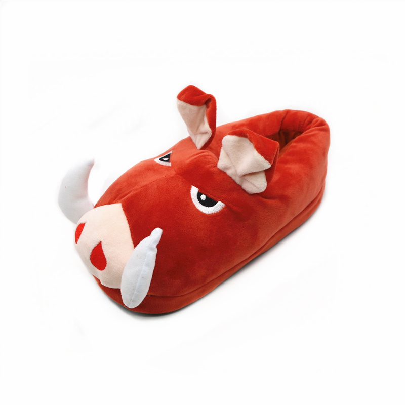 Unisex Cartoon The Lion King Slippers Adult&Children's Cute Wild Boar PUMBAA Style Home Slippers Winter Warm Short Plush Shoes