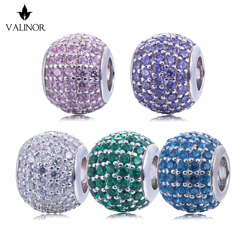 Video! Sky 925 Sterling Silver  beads charms fit Bracelets & Bangles Never change color DDBJ044
