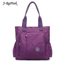 ФОТО new casual women handbag large capacity waterproof shoulder bag fashion design wear-resistant nylon big tote bags mother package