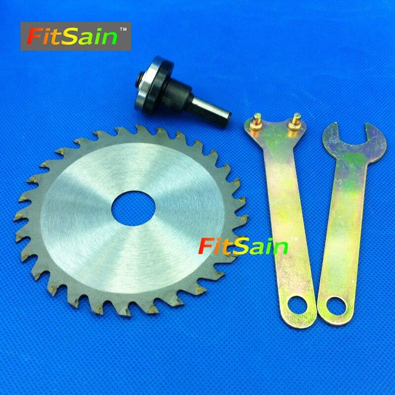 "FitSain - 4 ""100 mm cirkelzaagblad houtsnijder snijschijf Adapter koppelstang Drijfstang 9,5 mm"