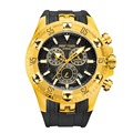 Спортивные мужские часы Reef Tiger/RT с хронографом  желтым золотом  резиновым ремешком  кварцевые часы reloj hombre masculino RGA303