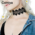European kpop bijoux jewelry colgantes women accessories choker necklaces colar hollow out flower shaped lace pashmina necklace
