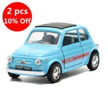 2018 1:24 Classical Toy Car Simulation Alloy Fiat 500 Model Cars Doors Openable Toys For Children Gift(China)