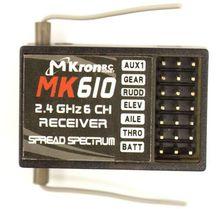 2.4GHz 6CH MK610 RC Receiver ,RC Receptor Bind Plug DSM2 Fit JR DX6i DX7 DX8 Transmitter Of Helicopters/Airplane /Quadcopter