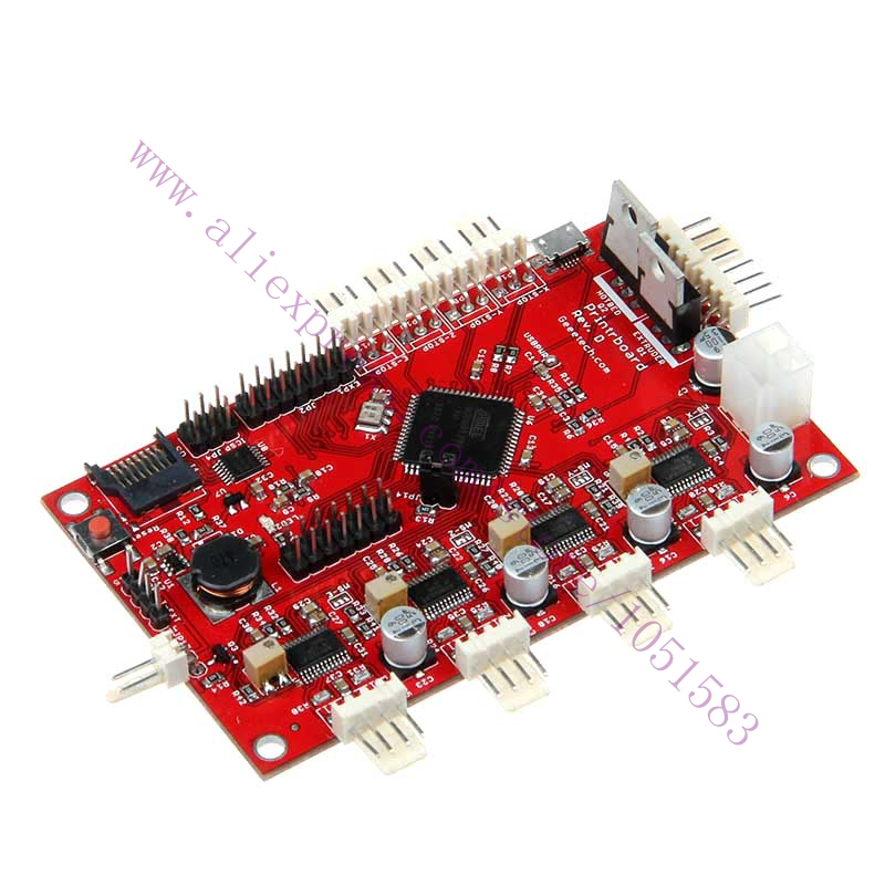 New version Printerboard for Reprap Prusa Mendel 3D printer improves upon Gen6