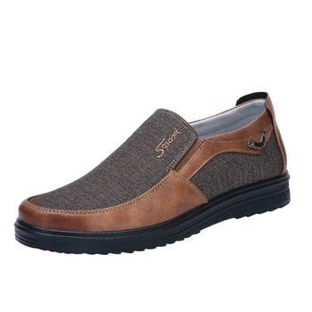 69db22763 2018 hombre zapatos para caminar ventilación Casual sapato masculino cómodo  inferior suave antideslizante conducción mocasín mocasines zapatos planos