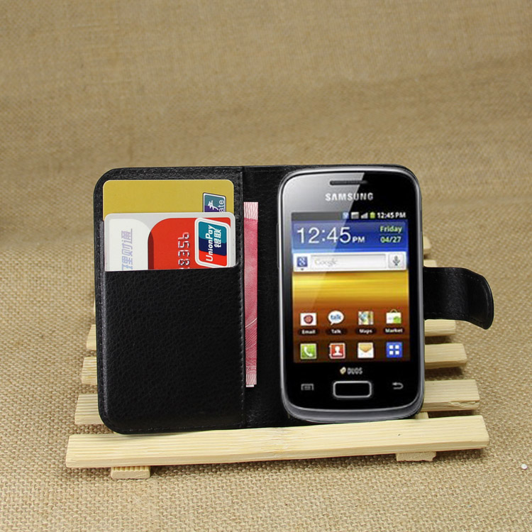 Cyboris Brand for Samsung Galaxy Young S6310 S6312 GT-S6310 GT-S6312 Cover Book Style Mobile Phone PU Leather Bag For Samsung