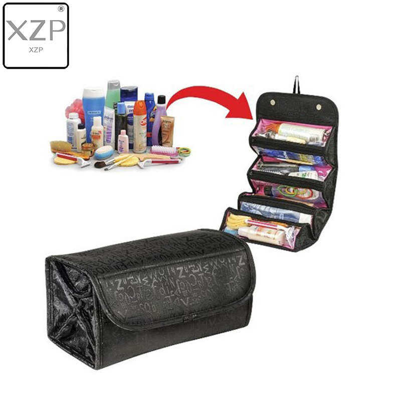 XZP 2019 Traveling Hanging Cosmetic Bag Women Zipper Case Letter Make Up Makeup Bags Necessaries Storage Organizer Toilet Bag