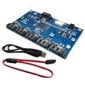 SATA 1-5 адаптер для жесткого диска материнская плата SATA порт мультипликатор поддержка SATA3.0 карта расширения