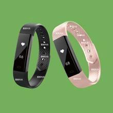 Фитнес-трекер умный браслет топ ID115 Bluetooth вызова напомнить дистанционного автоспуска Смарт-часы трекер для iOS и Android