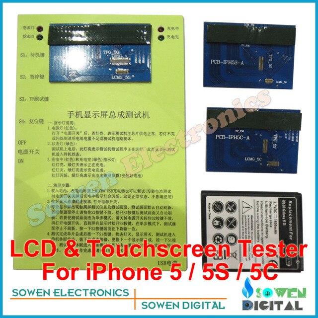 3 in1 ЖК-дисплей и Сенсорный экран Digitizer сенсорный экран Тестер тест доска для iphone 5 5g 5S 5C, Топ-версия, DHL EMS