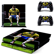Vinyl Decal Sticker Neymar PS4 Skin For Sony Playstation 4 Console protection film and Cover Decals 2 Controller цены онлайн