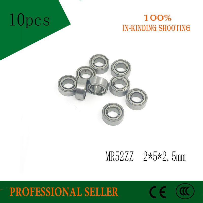 10pcs MR52ZZ 2*5*2.5mm High Quality Low-speed Bearings MR52 ZZ  MR52Z L-520ZZW52 2 X5x2. 5 Mm ABEC-5
