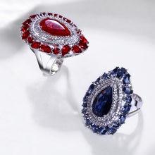 Женское кольцо с подвеской в форме капли модное дизайнерское