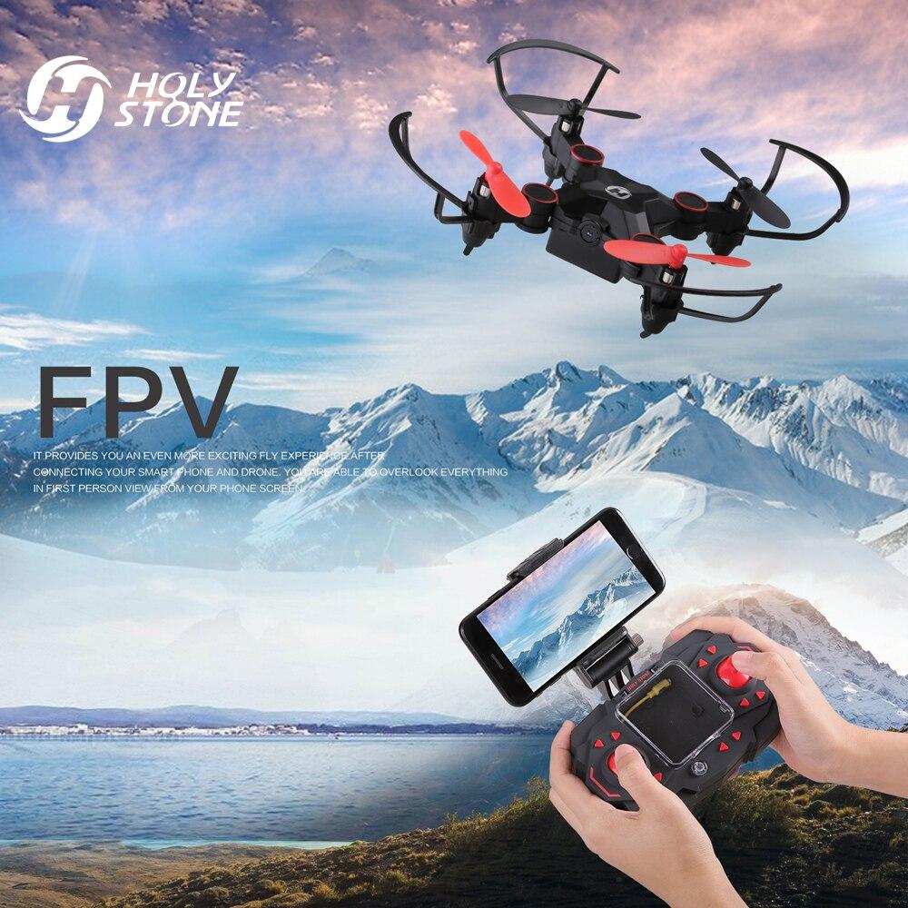 Saint Pierre HS190W FPV Drone avec Caméra Mini RC Hélicoptère Pliable Poche Maintien D'altitude Sans Tête Mode Quadcopter pour Les Débutants