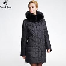 Snowclassic New Woman Winter Jackets 2016 Plus Size 6xl Jacket Real Fox Fur Collar Down Jacket Winter down coat Big Sale 12029