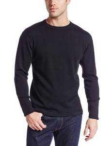 Warm Clothing Cardigan Underwear Long-Sleeves Merino-Wool Thicker Men's Winter Male Pure