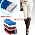2016 la venta caliente para mujer otoño invierno polar caliente pantalones de pana mujeres espesan más el tamaño flaco arranque pantalones S-3XL