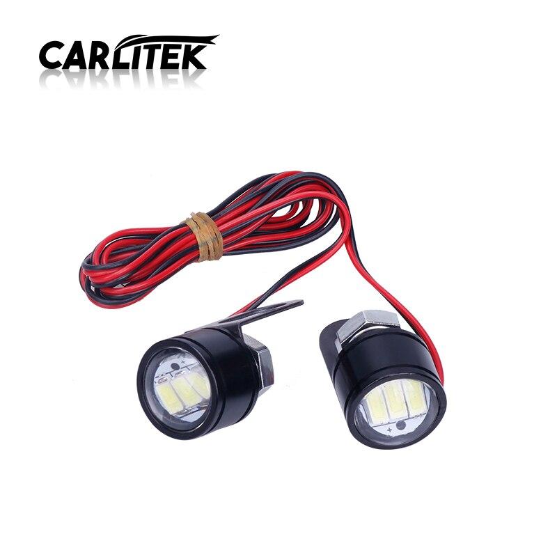 CARLitek 3SMD Led Motor Projector Len Spotlight Handlebar Led Headlight White Fog Light Daytime Running Motorcycle Headlamp