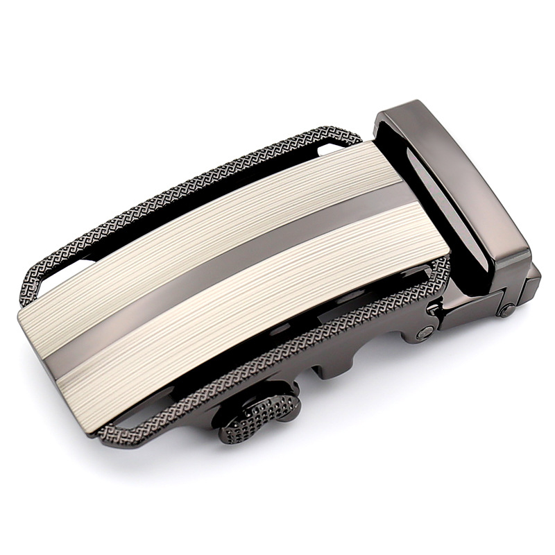 3.5cm Width Automatic Belt Buckle High Quality Silver Metal Luxury Belt Buckles For Men CE402685
