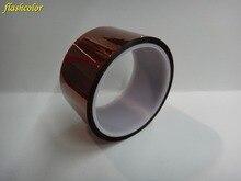 Flashcolor Free Shipping 1PCS 50MMX33/Meter 108 feet Heat Resistant Tape High Temperature Adhesive Kapton Tape