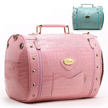Luxury leather small dog Travel Carrier bag outdoor foldable portable Pet cat dog Chihuahua carry tote shopping bag handbag