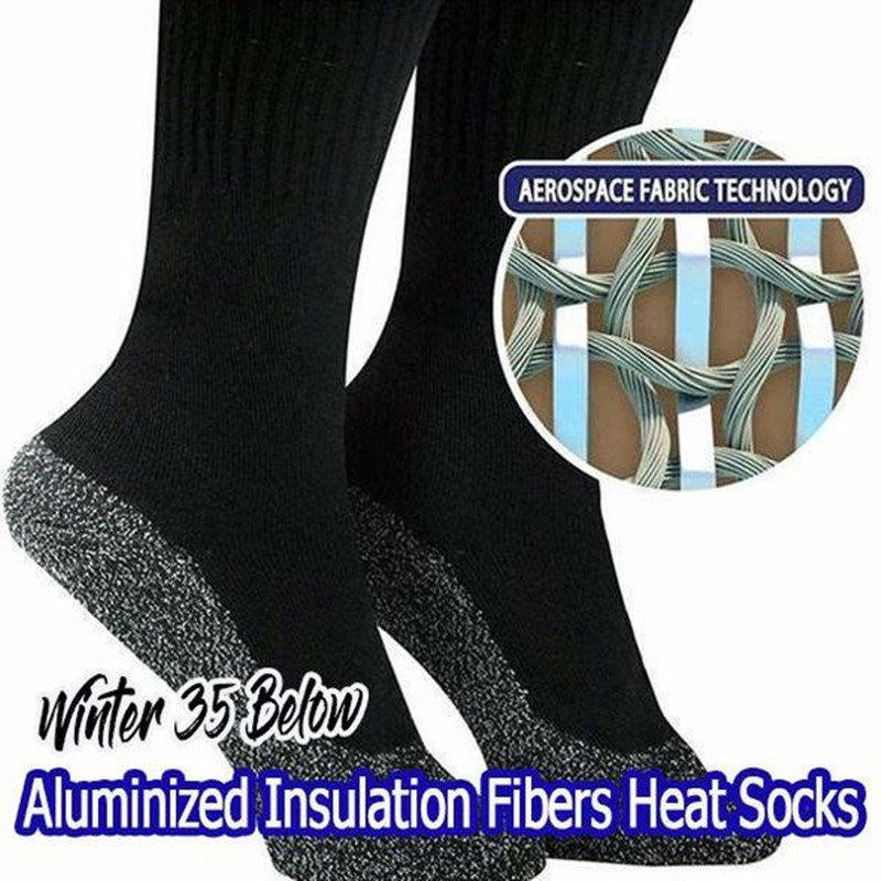 Dropshiping Winter 35 Below Aluminized Fibers Socks Keep Feet Warm And Dry Men And Women Aluminum Fiber Sock Gift Christmas
