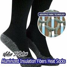 Dropshiping Winter 35 Below Aluminized Fibers Socks Keep Feet Warm and Dry Men a