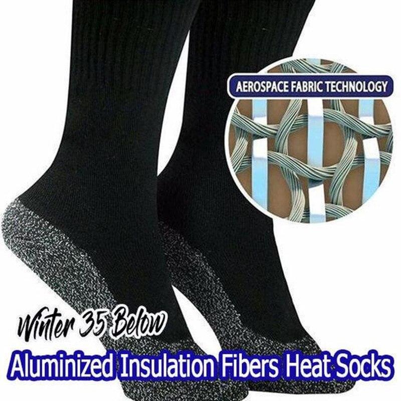 Dropshiping hiver 35 sous les chaussettes en Fibers aluminisées garder les pieds au chaud et au sec hommes et femmes en Fiber d'aluminium chaussette cadeau de noël