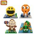 Píxeles figura de juguete bloques de construcción loz pacman pac man orangután pulpo chilopod assemblage juguete distribuidor autorizado offical