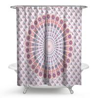 India Mandala Polyester Shower Curtain 3D Printed Shower Curtain Bath Screens Scenery Waterproof Bathroom Curtain Eco Friendly
