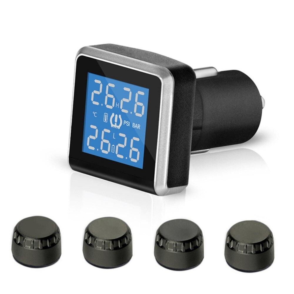 ФОТО 2017 new style 433.92MHz Wide Angle Screen Design TMPS Car Tire Pressure Monitoring System 4pcs External Mini Sensors U908WF