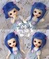 1/8 1/12 BJD Wigs Fashion blue fur wig bjd sd long wig for DIY dollfie