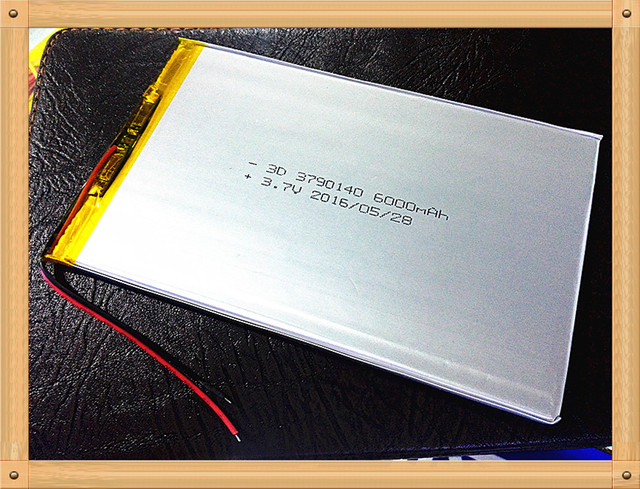Free shipping large capacity 3.7 V tablet battery 6000 mah each brand tablet universal rechargeable lithium batteries 3790140