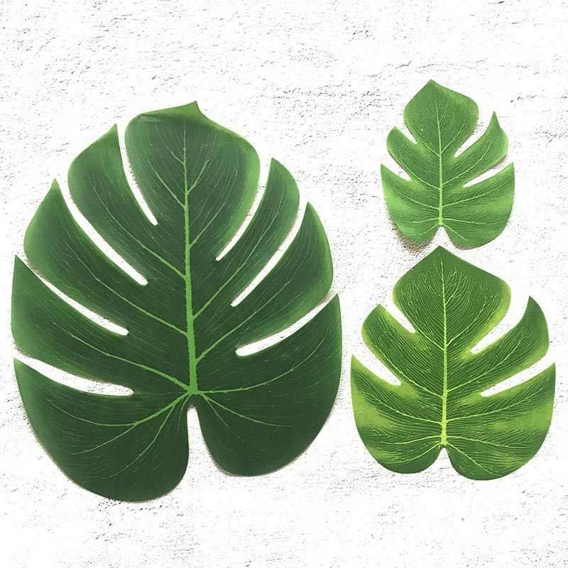 Liście monstery sztuczny liść podkładki tropikalne urodziny dekoracje weselne na stół lato hawaje DIY zaopatrzenie firm dobrodziejstw