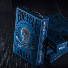 1pcs Original Bicycle Cards Lujo Skull Playing Cards Magic Card Poker Close Up Trucos de magia de escenario para mago profesional