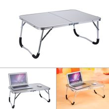 Portable Computer Picnic Desk Camping Folding Table Laptop Desk Stand PC Notebook Bed Tray Laptop Table White Overseas Shipment(China)