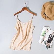 100% mulberry silk female o-neck bottoming shirt Satin Silk T-shirt vest  Large brimmed vest sex silk vest-b177