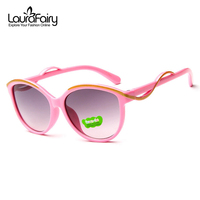 Laura Fairy Fashion Design Kids Boys Girls Sunglasses Wave Design Arm UV Protection Cateye Sunglasses Shades