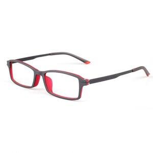 Image 5 - Reven Jate 7011 Full Rim Flexible Frame Pure Titanium Super Light Temple Legs Prescription Eyeglasses Frame Optical Glasses