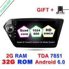 android 6.0 2G+32G Car dvd player 9 inch gps navigation for Kia k2 RIO 2010 2011 2012 2013 2014 2015 car stereo car radio wifi